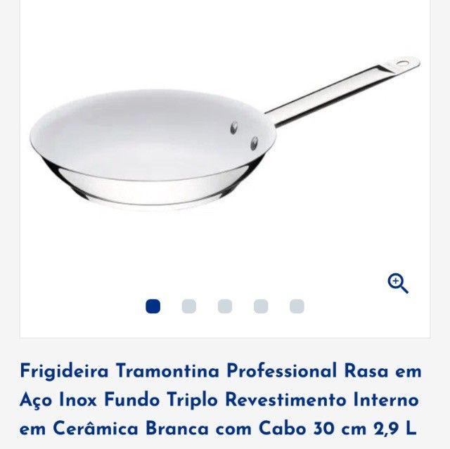Frigideira Tramontina Cerâmica Branca  - Foto 5