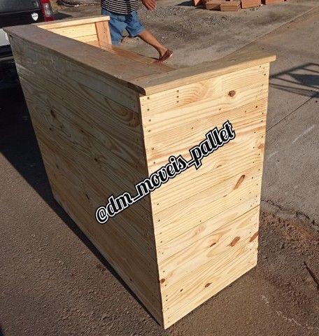 Balcão caixa de pallet rústico - Foto 3