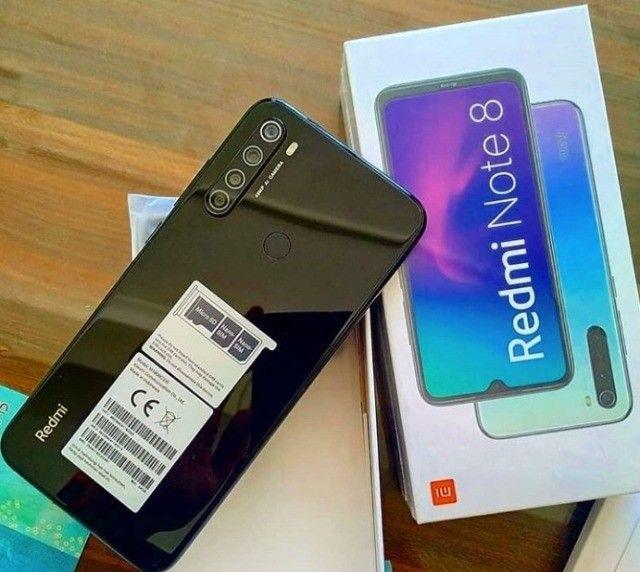 Xiaomi redmi note 8 Branco/Preto - 64gb - 4ram - 1 Ano de garantia. - Foto 3