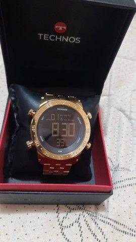 Relógio tecnos série ouro - Foto 2