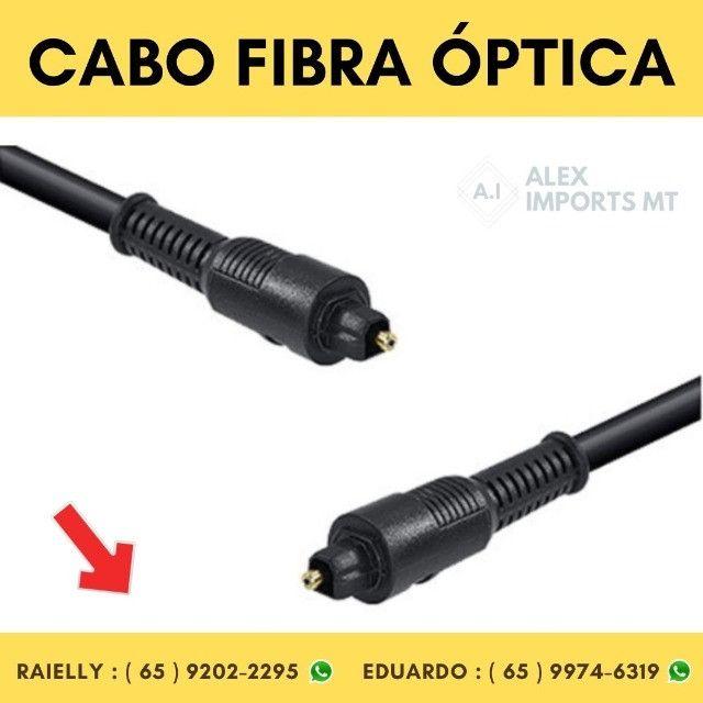 Cabo de Fibra Óptica Preto 2,0 Metros Vinik- 23540