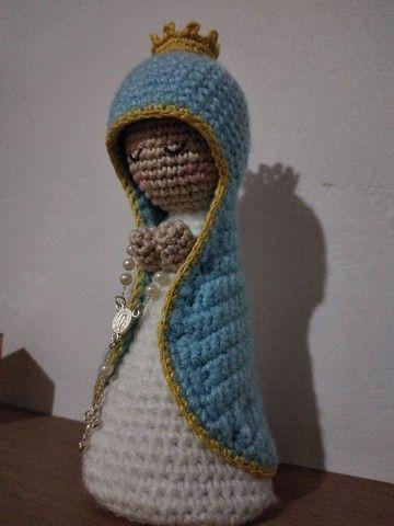 Nossa Senhora de crochê/amigurime  - Foto 2