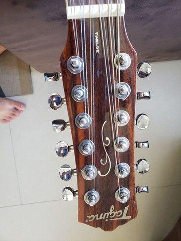 Violão de 12 cordas com capa  - Foto 4
