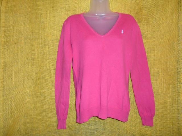 Blusa sueter feminina pink Ralph lauren original tam M - Roupas e ... f8c2525cd40
