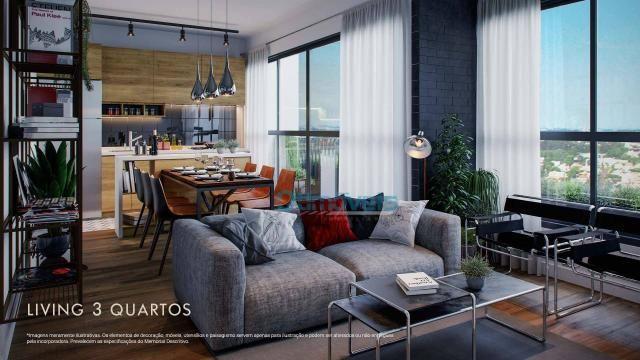 Apartamento com 3 dormitórios à venda, 73 m² por R$ 539.000 - Ecoville - Curitiba/PR - Foto 2