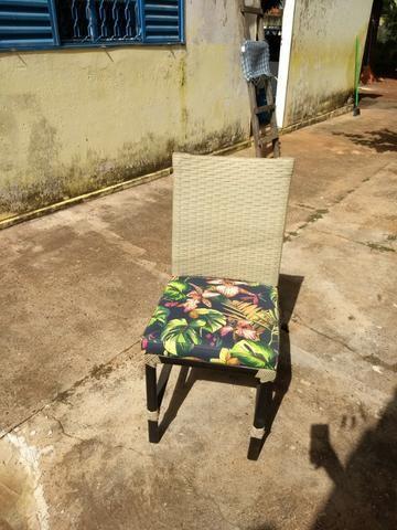 6 Cadeiras de Junco Seminovas - Foto 3