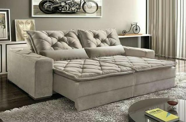 Tok Shik Estofados, sofa, poltrona, cadeira decorativa, divã, cama box, colchões ortobom - Foto 3