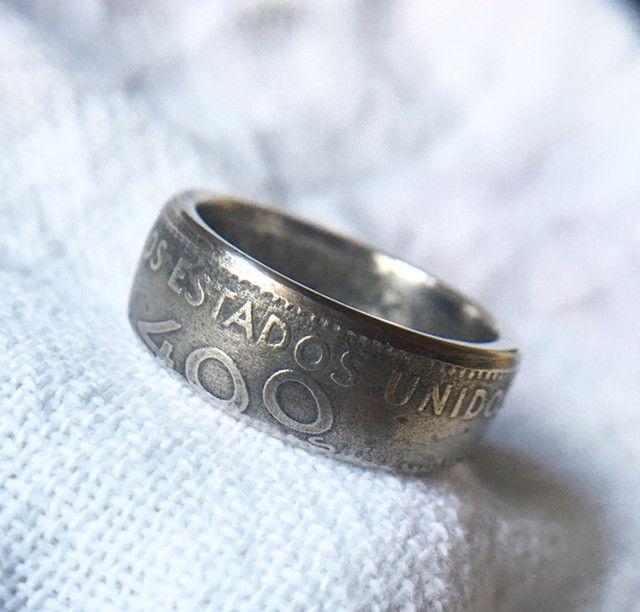 Anel de moeda antiga / Coin Rings / 400 Reis - Foto 3