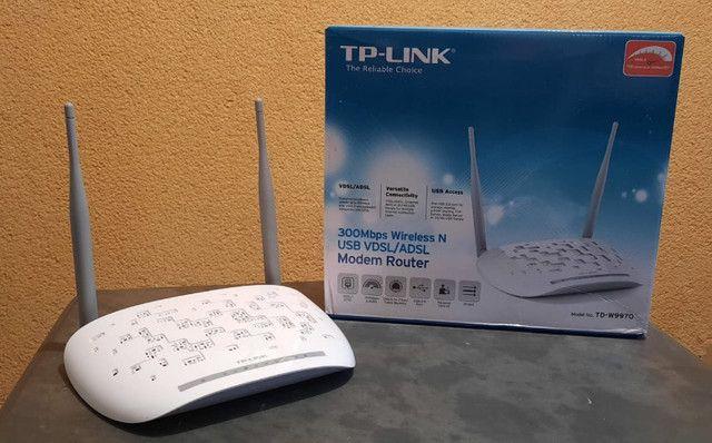 Modem roteador wireless n vdsl2 usb 300mbps marca: TP-Link modelo: TD-W9970 - Foto 2
