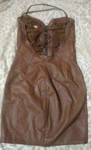 Vestido de couro com etiqueta - Foto 5