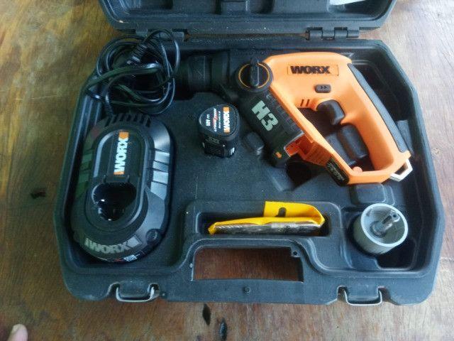 Martelete a Bateria WORX - Com Maleta e Acessórios - Foto 5