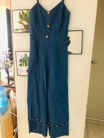 Macacão jeans M/G