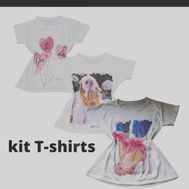Kit 3 T-shirts - Foto 3