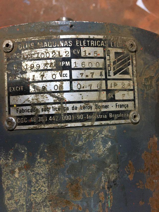 Motor elétrico corrente contínua 1,5 cv - Foto 3