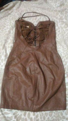 Vestido de couro com etiqueta - Foto 4