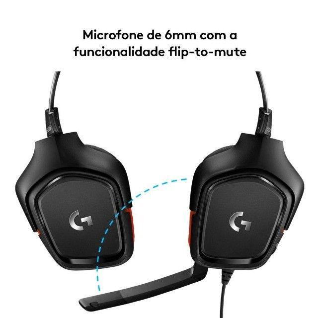 Headset Gamer Logitech G332  Stereo  Drivers 50 mm Novo Lacrado - Loja Natan Abreu  - Foto 3