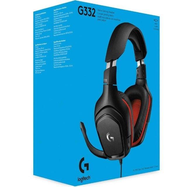 Headset Gamer Logitech G332  Stereo  Drivers 50 mm Novo Lacrado - Loja Natan Abreu  - Foto 4