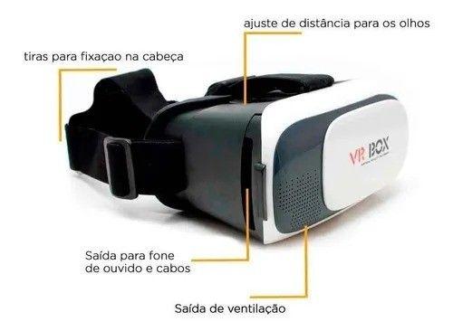Óculos 3D Realidade Virtual Vr Box + Controle Bluetooth - Foto 5