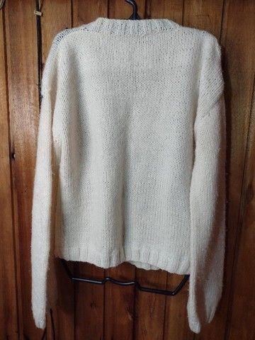 841 - Blusão de lã feminino - Tam 40 - Foto 2