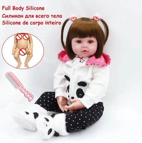Bebê Reborn Panda 100% silicone