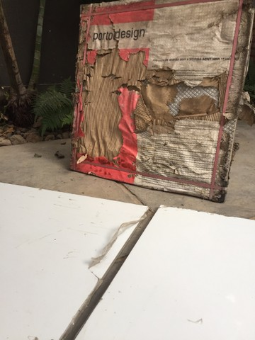 Marmoglass de 80x80cm - novas - 4 peças  - Foto 2