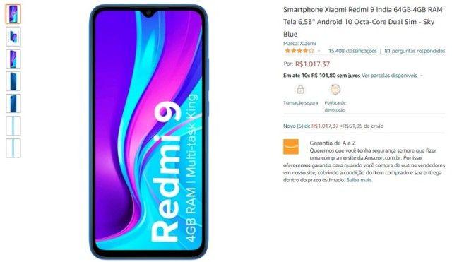 Vendo Xiaomi Redmi 9 64 GB novo