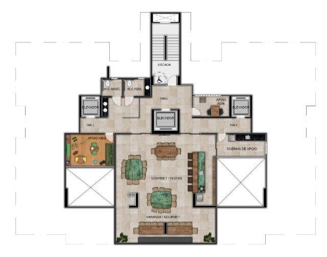 Apartamento em Guaxuma - 4 suítes e varanda Gourmet com 34m2 - Foto 15
