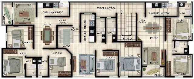 Apartamento no Bessa, 2 quartos, construção avançada, Anº 32