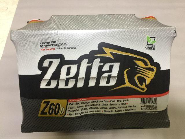 Bateria zetta / moura 60amp ld nova