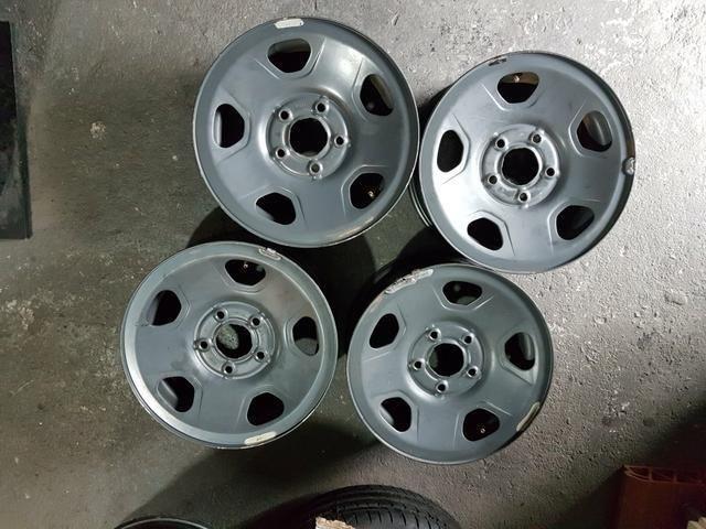 Jogo Roda Ferro (Aço) Aro 15 polegadas p/ GM / S10 / Blazer / 05 furos / Original