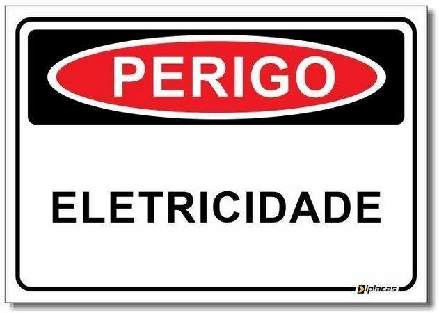 Placa De Sinalização Perigo Eletricidade 30x20 Novo Garantia - Foto 3