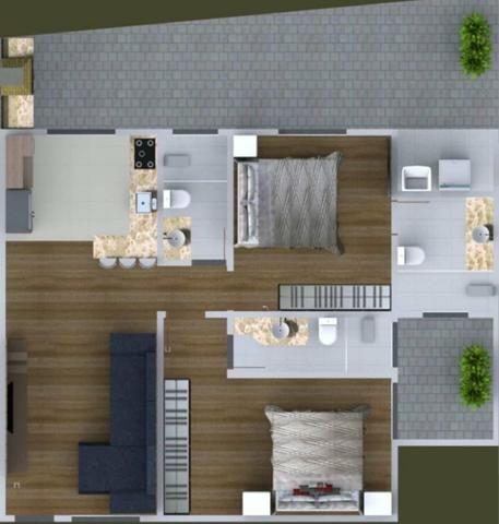 Apartamento Terreo 120m2 Quintal Vilage Santana Guaratingueta
