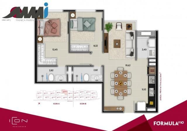 Icon - apartamento com 02 quartos sendo 01 suíte em bc - Foto 12