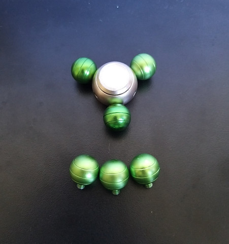 Hand spinner metálico 6 pontas - Foto 3