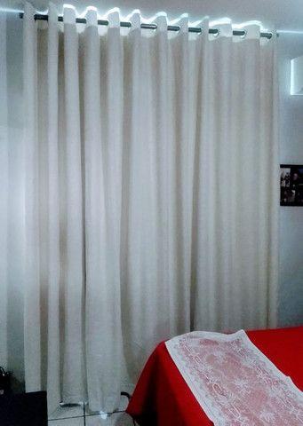 Cortina gaze de linho com blackout lavável - Foto 2