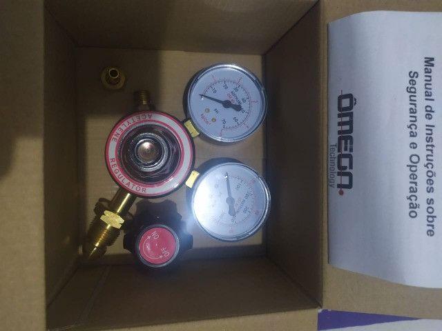 Regulador Manômetro De Pressão De Oxigênio e Acetileno - Foto 4