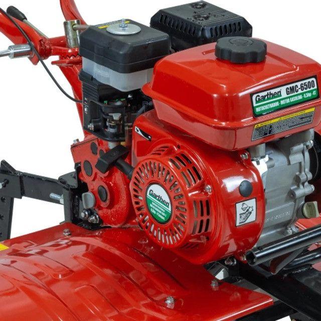Motocultivador a Gasolina 6,5HP 4T GMC-6500 Garthen - Foto 2