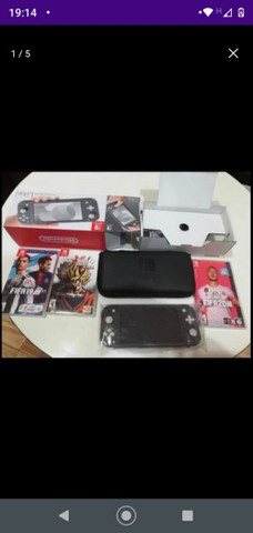 Vendo Nintendo switch lite 30