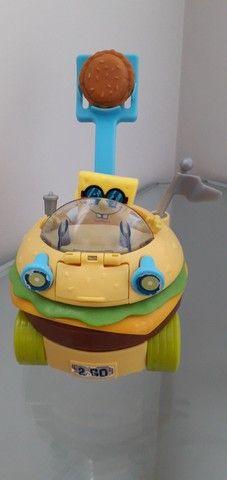 Imaginext Bob Esponja carro hamburguer Mattel