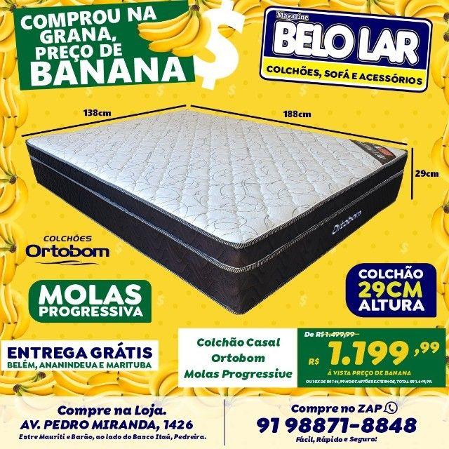Colchão Ortobom Mola Progressiva, Compre no zap *