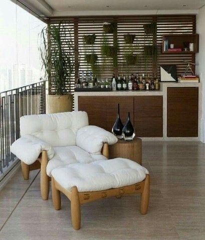 sofás e poltronas para piscinas e Jardim com tecido lmpermeabisante  - Foto 4