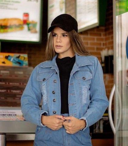 Jaquetas jeans feminina e masculina  - Foto 5