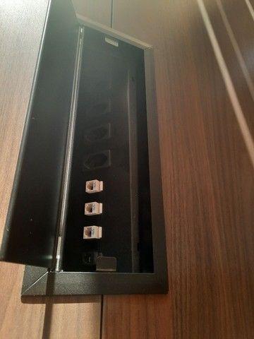 Mesa escritório 1,40x2,70 42mm 6 poltronas  - Foto 5