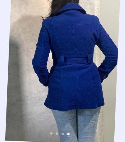 Casa de lã batida azul royal carla calin - Foto 4