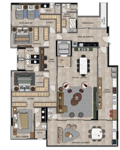 Apartamento em Guaxuma - 4 suítes e varanda Gourmet com 34m2 - Foto 13