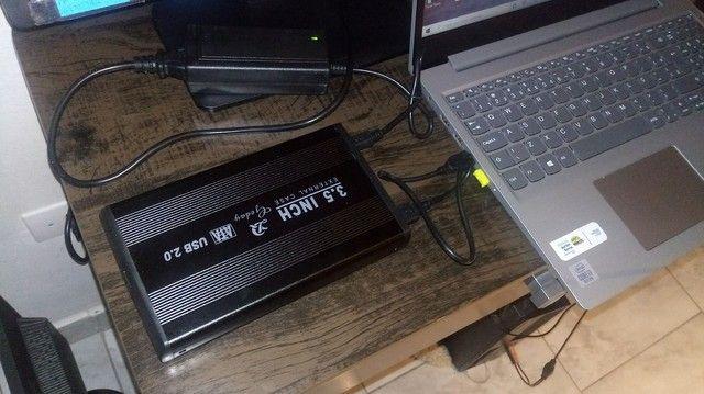 Case para HD 3.5 + 2 HDs Samsung 160gb - Foto 3