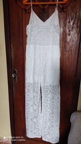 """02 macacão branco TM """"M"""" 01 Vestido para casamento em cartório TM """"M"""" - Foto 3"""