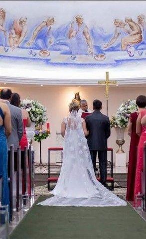 Vestido de noiva Sereia (M) **Aceito Cartão** - Foto 5