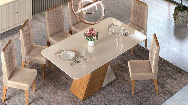 Mesa de Jantar 6 Cadeiras Rubi -- Entrega e montagem Na Hora - Foto 2
