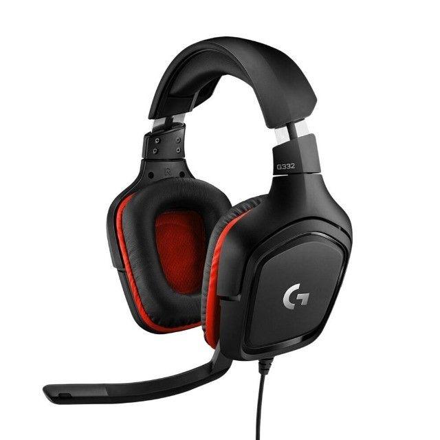 Headset Gamer Logitech G332  Stereo  Drivers 50 mm Novo Lacrado - Loja Natan Abreu